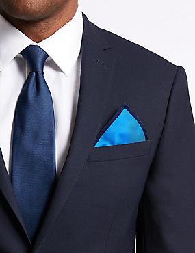 Pure Silk Pocket Square, ROYAL BLUE, catlanding