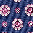 Pure Silk Printed Pocket Square, BLUE MIX, swatch