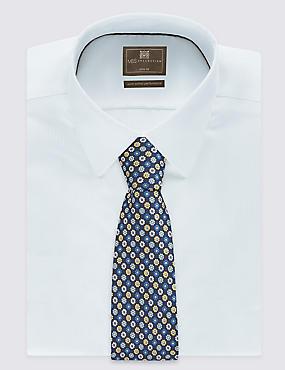 Cravate à imprimé fleuri, OR ASSORTI, catlanding