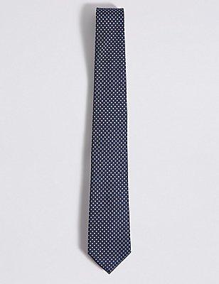 Spotted Tie, NAVY MIX, catlanding