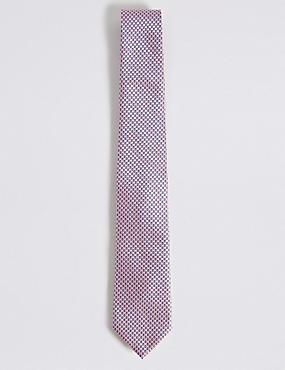 Krawatte mit geometrischem Muster, ROSA, catlanding