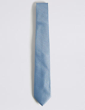 Geometric Print Tie, LIGHT BLUE, catlanding