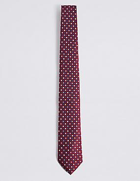 Krawatte mit bunten Punkten, CRANBERRY MITTEL, catlanding