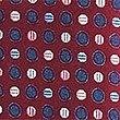 Krawatte mit bunten Punkten, CRANBERRY MITTEL, swatch