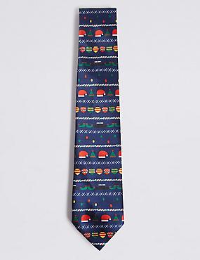 Light Up Novelty Tie, NAVY MIX, catlanding