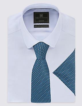 Geometric Print Tie & Pocket Square Set, TEAL MIX, catlanding