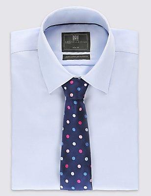 Herringbone Spotted Tie, PINK MIX, catlanding