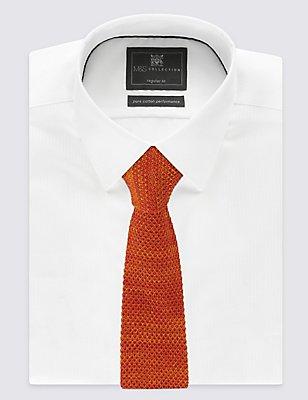 Knitted Tie, ORANGE MIX, catlanding