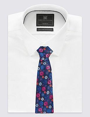 Floral Print Tie, PINK MIX, catlanding