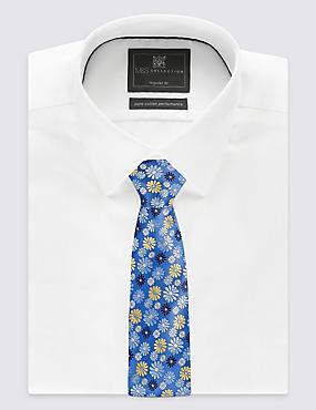 Floral Print Tie, BLUE MIX, catlanding