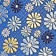 Corbata con estampado floral, MEZCLA DE TONOS AZULES, swatch