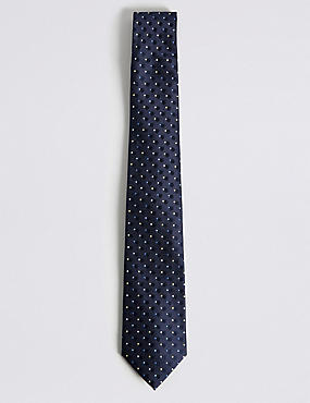 Circle Spotted Tie, NAVY MIX, catlanding