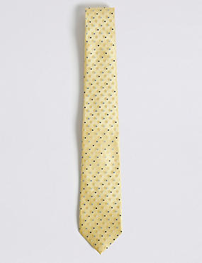 Circle Spotted Tie, YELLOW, catlanding
