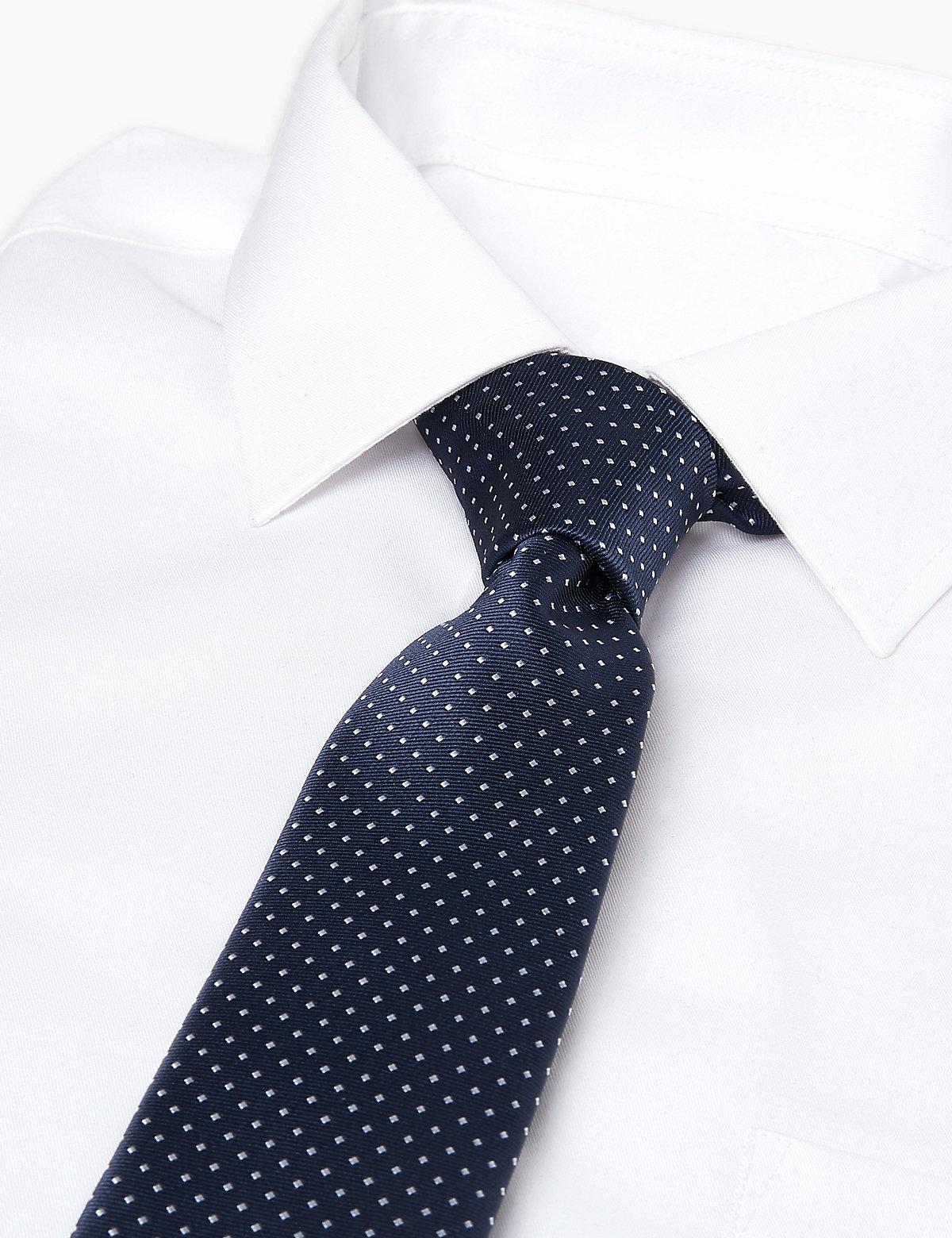 Тканый узкий галстук в мелкий горошек