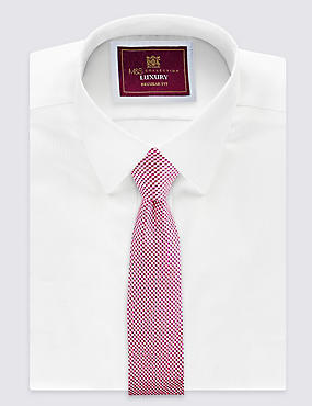 Pure Silk Textured Tie , PINK MIX, catlanding