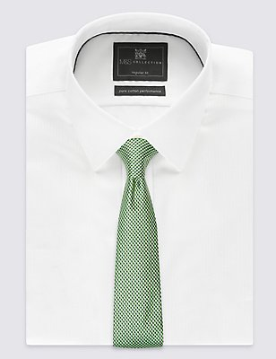 Pure Silk Textured Tie , GREEN MIX, catlanding