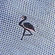 Pure Silk Flamingo Tie, BLUE, swatch