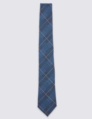 Шерстяной галстук в клетку Pow