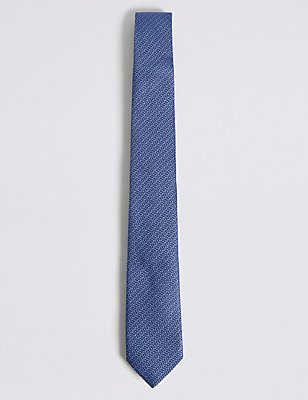 Pure Silk Grenadine Textured Tie, LIGHT BLUE, catlanding