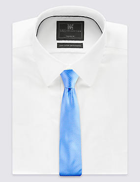 Pure Silk Spotted Tie, LIGHT BLUE, catlanding