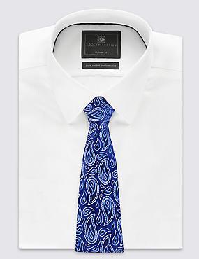 Puur zijden stropdas met paisleymotief, BLAUW MIX, catlanding