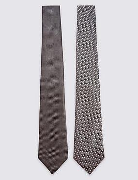 2 Pack Textured Tie, GREY MIX, catlanding