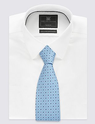 2 Pack Spotted & Floral Ties, BLUE MIX, catlanding