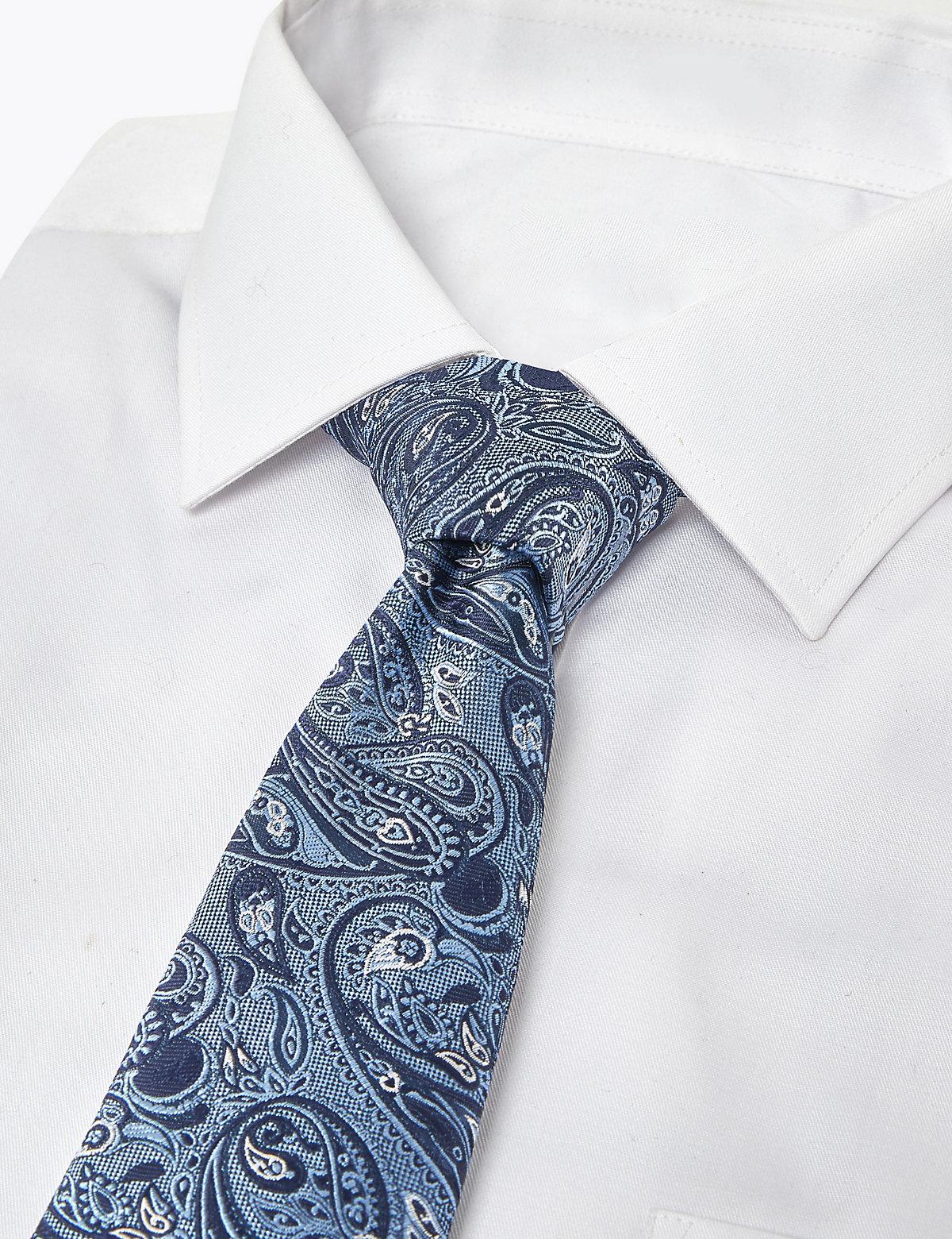 Комплект фактурных галстуков с принтом (2 шт)