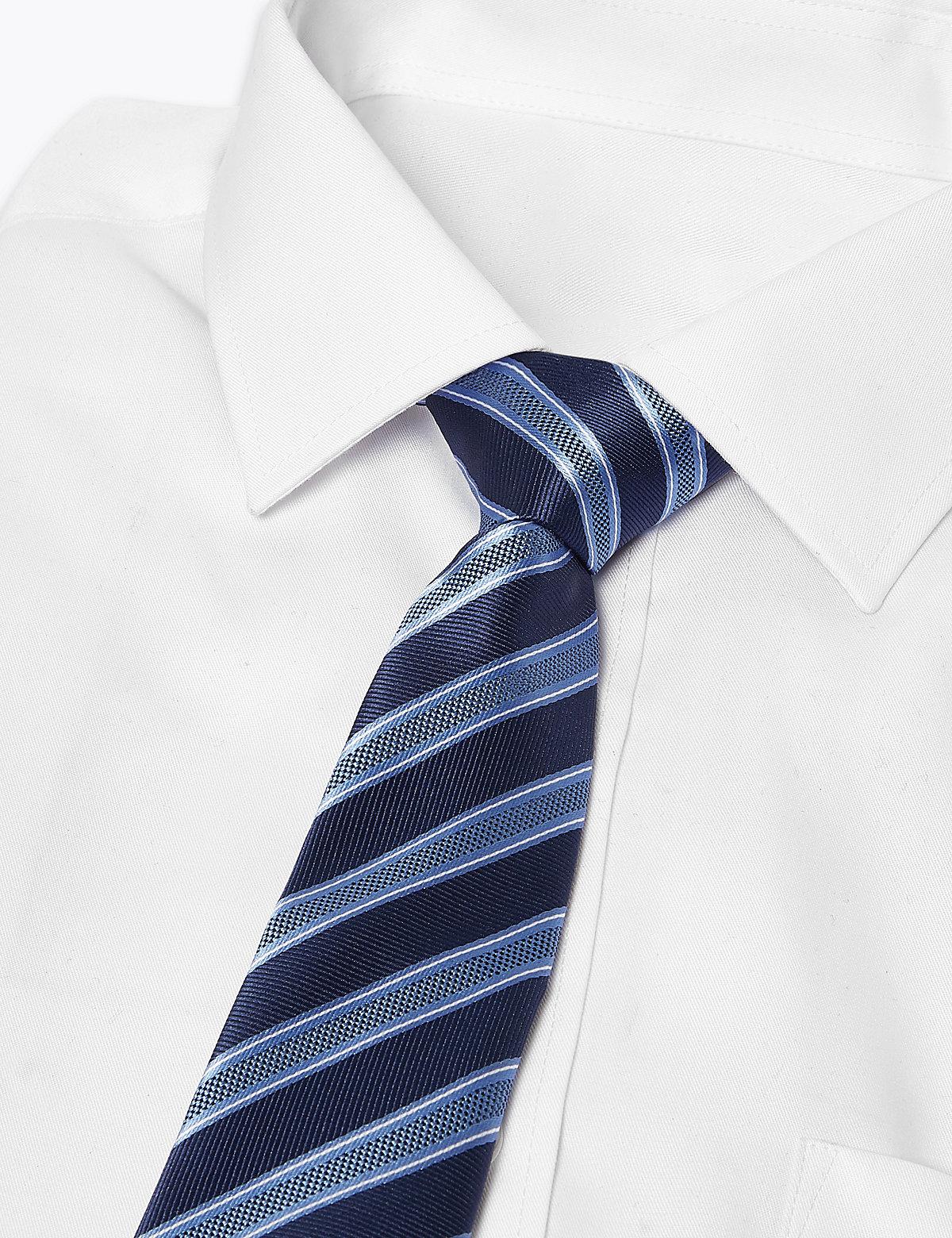 2 пары узких галстуков с геометрическим рисунком