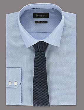 Pure Silk Premium Waffle Evening Tie, NAVY, catlanding