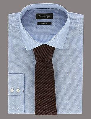 Pure Silk Premium Waffle Evening Tie, BURGUNDY, catlanding