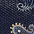 Pure Silk Paisley Print Tie, NAVY, swatch
