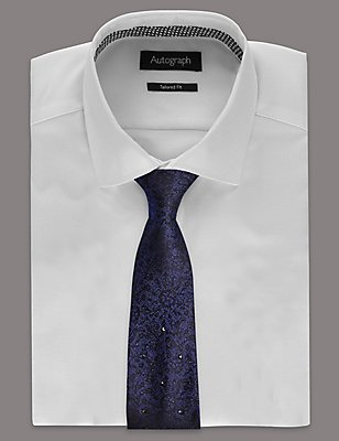Pure Silk Tie MADE WITH SWAROVSKI® ELEMENTS, BLUE MIX, catlanding