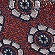Pure Silk Textured Bow Tie, ORANGE, swatch