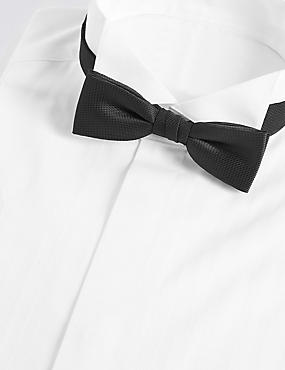 Textured Bow Tie, BLACK, catlanding