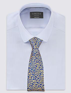 Pure Silk Textured Floral Tie, GOLD MIX, catlanding