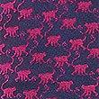 Pure Silk Cheeky Monkey Print Tie, MAGENTA MIX, swatch