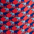 Corbata 100% seda con estampado de elefantes, MEZCLA DE ROJOS, swatch