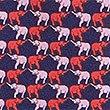Corbata 100% seda con estampado de elefantes, MEZCLA DE TONOS AZULES, swatch