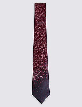 Pure Silk Embroidered Tie, , catlanding
