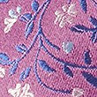Pure Silk Floral & Leaf Print Tie, PINK MIX, swatch
