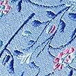 Pure Silk Floral & Leaf Print Tie, BLUE MIX, swatch