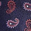 Krawatte aus reiner Seide mit Paisley-Muster, MAGENTA, swatch