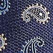 Krawatte aus reiner Seide mit Paisley-Muster, MARINEBLAU, swatch