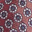 Pure Silk Floral Print Tie, ORANGE, swatch