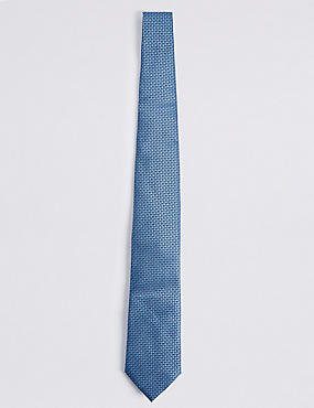Pure Silk Micro Spotted Tie, PERIWINKLE, catlanding
