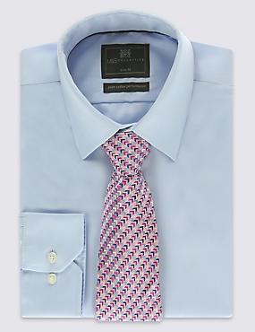 Pure Silk Zigzag Print Tie, MAUVE MIX, catlanding