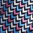 Pure Silk Zigzag Print Tie, MULTI, swatch