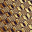Strukturierte Seidenkrawatte, GOLD, swatch