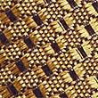 Pure Silk Textured Tie, GOLD, swatch